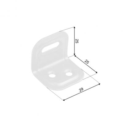 Úhelník na nábytek 25x25x29 mm FKS1 bílý - 2