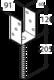 "Patka sloupku typu ""U"" 91 x 120 x 60 x 4 mm, PS 90 U - 2/3"