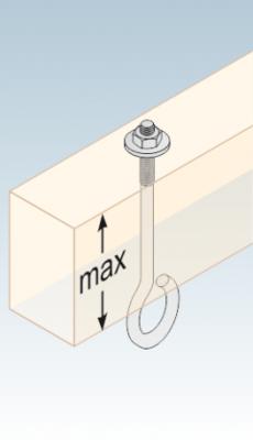 Uchycení houpačky typ A M12 x 130 mm, MHA 130 - 3