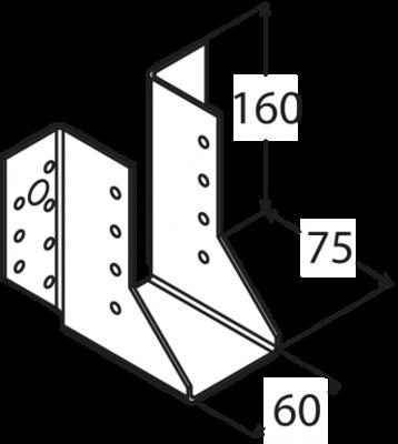 Trámová botka 60 x 160 mm, WB 16 - 3