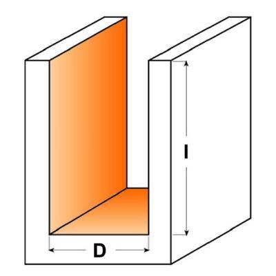 Drážkovací fréza  D3 x 11 L60 CMT C172  - 3