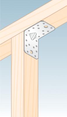 Úhelník s prolisem 70 x 70 x 55 x 2 mm, KPL 4 - 3