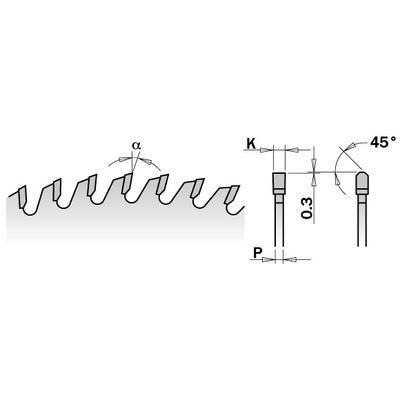 Pilový kotouč na lamino, DTD a MDF D300 x 3,2 x 30 Z96, CMT C281 - 3
