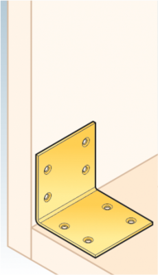 Úhelník široký 60 x 60 x 60 x 2 mm, KS 3 - 3