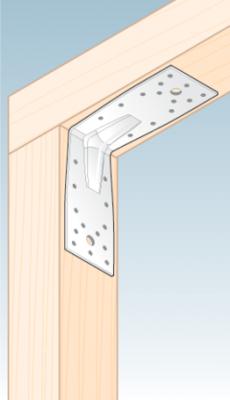 Úhelník s prolisem 140 x 140 x 65 x 2,5 mm, KP 5 - 3