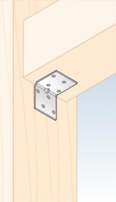 Úhelník montážní s prolisem 40 x 40 x 40 mm KMP 1 - 3