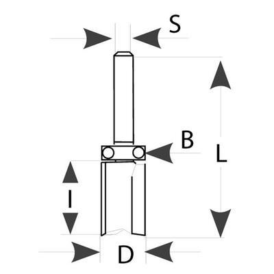 Drážkovací fréza s ložiskem D16 x 25 x 65 S=8 HM Fachmann M112  - 4
